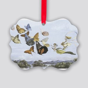 Fairies and Butterflies Picture Ornament