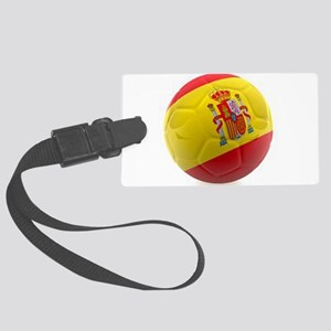 Spain world cup soccer ball Large Luggage Tag