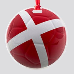 Denmark world cup ball Round Ornament