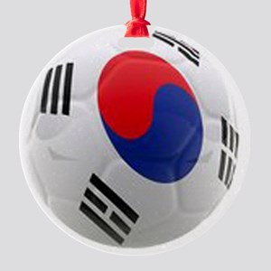 South Korea world cup soccer ball Round Ornament