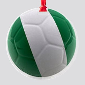 Nigeria World Cup Ball Round Ornament