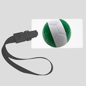 Nigeria World Cup Ball Large Luggage Tag