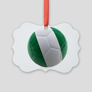 Nigeria World Cup Ball Picture Ornament