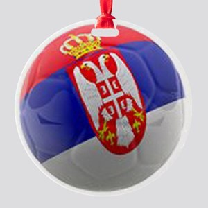 Serbia World Cup Ball Round Ornament