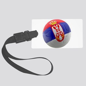 Serbia World Cup Ball Large Luggage Tag