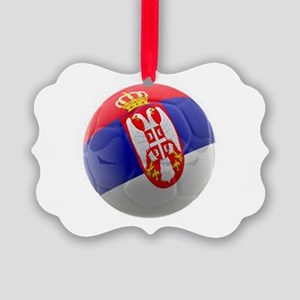 Serbia World Cup Ball Picture Ornament