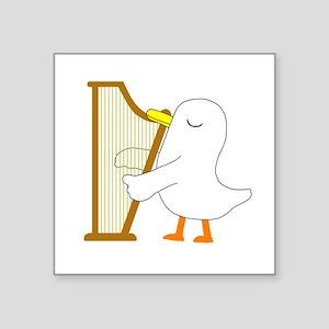 "Harpist Square Sticker 3"" x 3"""