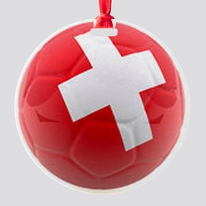 Switzerland World Cup Ball Round Ornament