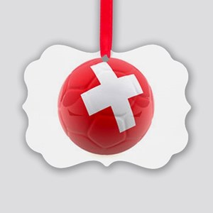 Switzerland World Cup Ball Picture Ornament