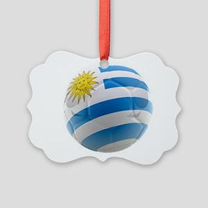 Uruguay World Cup Ball Picture Ornament