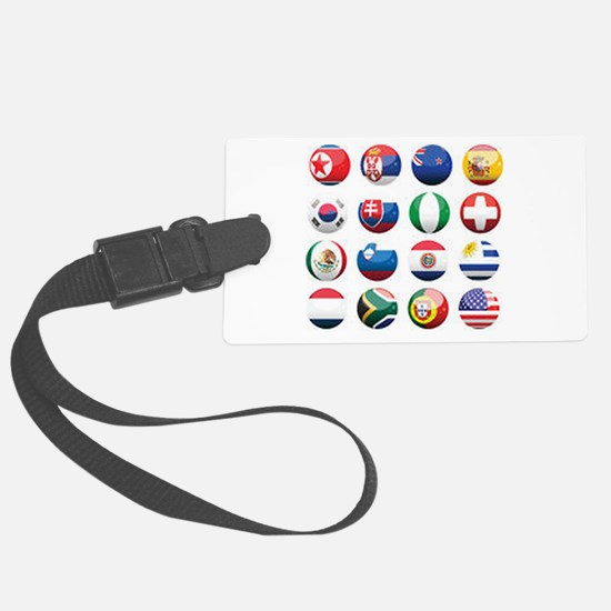World Cup Soccer Balls Luggage Tag
