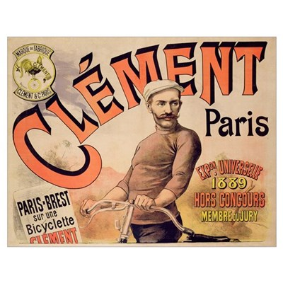 Poster advertising Clement bicycles, 1889 (colour Poster