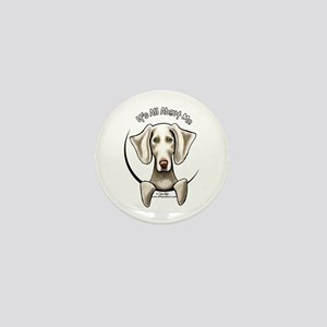 Weimaraner IAAM Mini Button