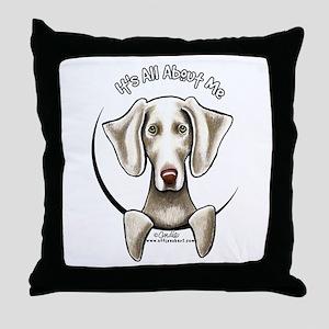 Weimaraner IAAM Throw Pillow