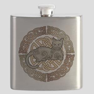 Celtic Cat Flask