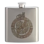 Celtic Cat and Dog Flask