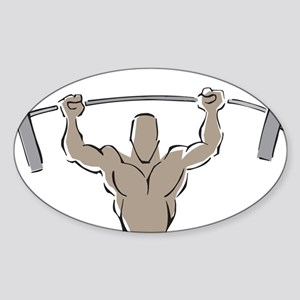 Lifting Weights Sticker (Oval)
