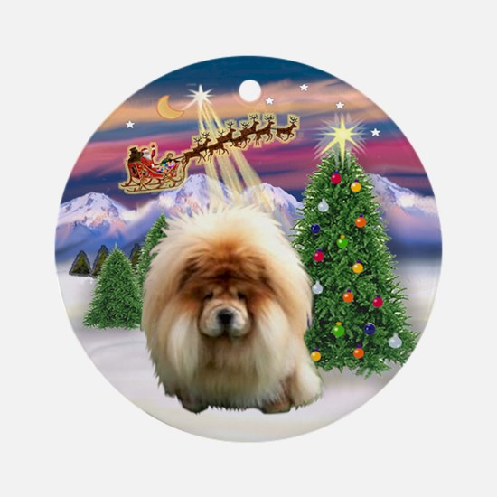 Take Off - Chow Chow Ornament (Round)