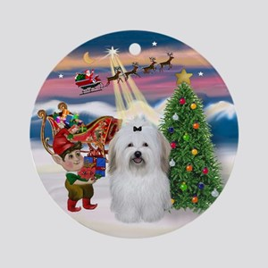 Take Off - Coton de Tulear Ornament (Round)