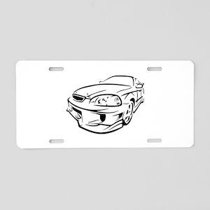 Racer Aluminum License Plate