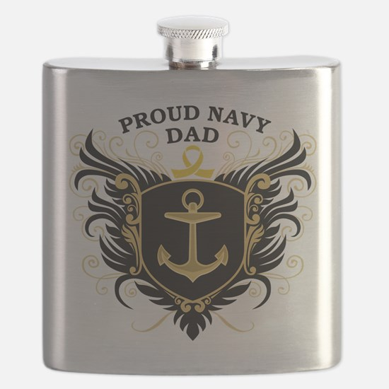 Proud Navy Dad Flask