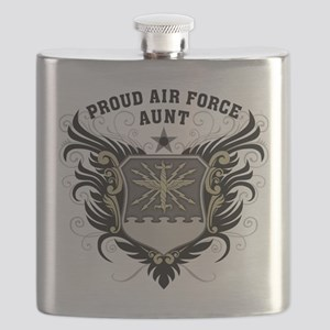 Proud Air Force Aunt Flask