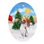 Treat for an Amer Foxhound Ornament (Oval)