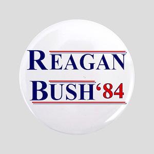 """Reagan Bush '12 3.5"""" Button"""