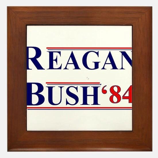 Reagan Bush '12 Framed Tile