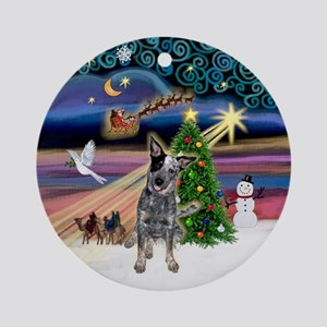 Xmas Magic-AussieCattleDog Ornament (Round)