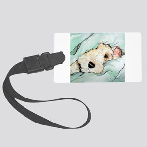 Napping Wire Fox Terrier Large Luggage Tag
