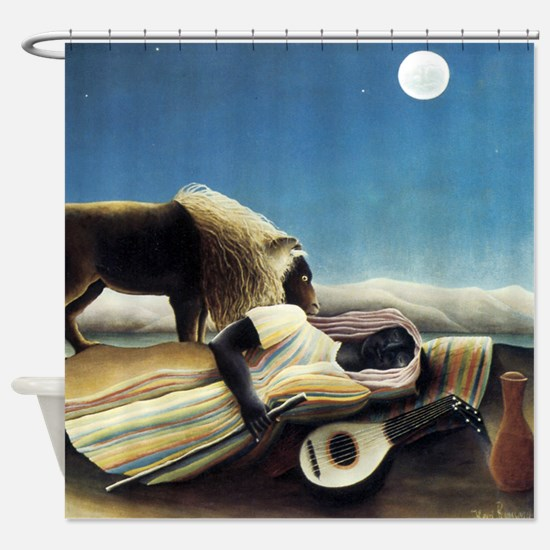 Henri Rousseau The Sleeping Gypsy Shower Curtain