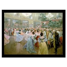 Court Ball at the Hofburg, 1900 (w/c) Framed Print
