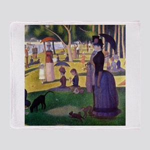 Georges Seurat La Grande Jatte Throw Blanket