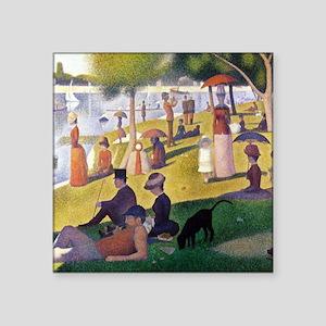 "Georges Seurat La Grande Jatte Square Sticker 3"" x"