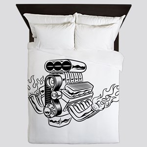 Hot Rod Engine Queen Duvet