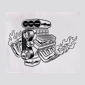 Hot Rod Engine Throw Blanket
