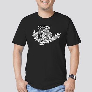 Hot Rod Engine Men's Fitted T-Shirt (dark)