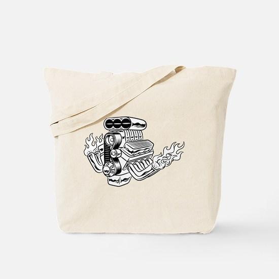 Hot Rod Engine Tote Bag