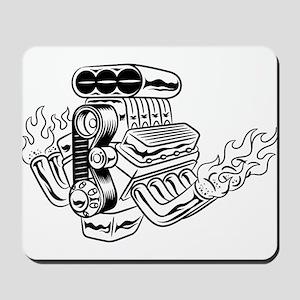 Hot Rod Engine Mousepad