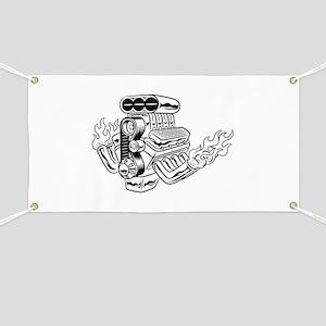Hot Rod Engine Banner
