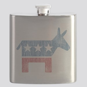 Vintage Democrat Donkey Flask