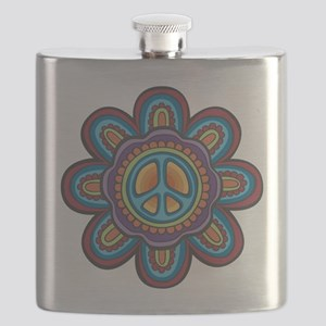 Hippie Peace Flower Flask