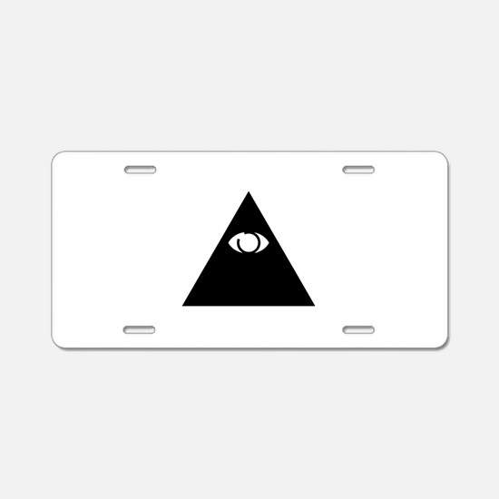Illuminati Aluminum License Plate