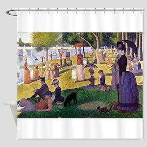Georges Seurat La Grande Jatte Shower Curtain