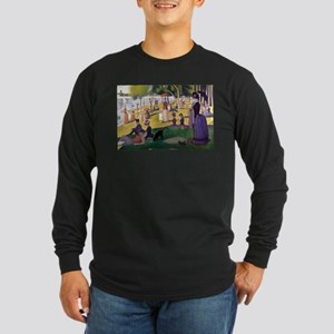 Georges Seurat La Grande Jatte Long Sleeve Dark T-
