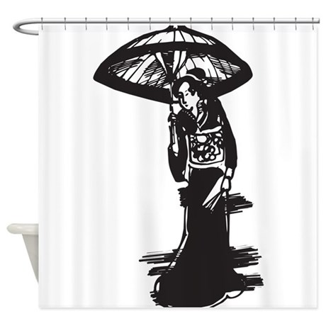 Geisha Shower Curtain By TheFantasticShirtandMoreShop