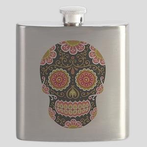 Black Sugar Skull Flask