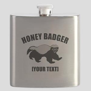 Honey Badger Custom Flask