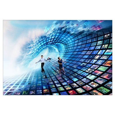 Information overload, conceptual image Canvas Art